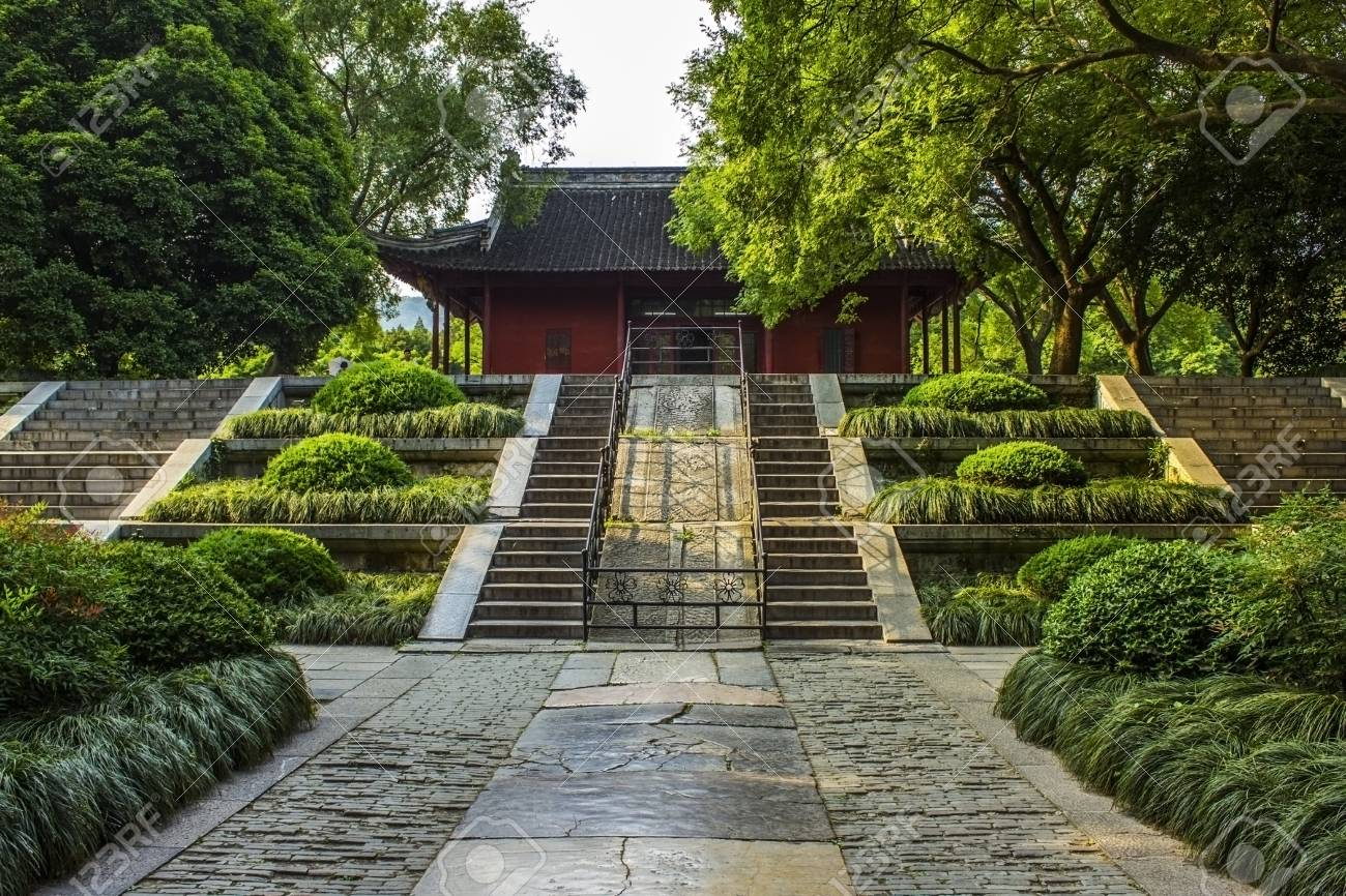 One of the main halls at the Ming Xiaoling Tomb in Nanjing China Stock Photo - 14201119