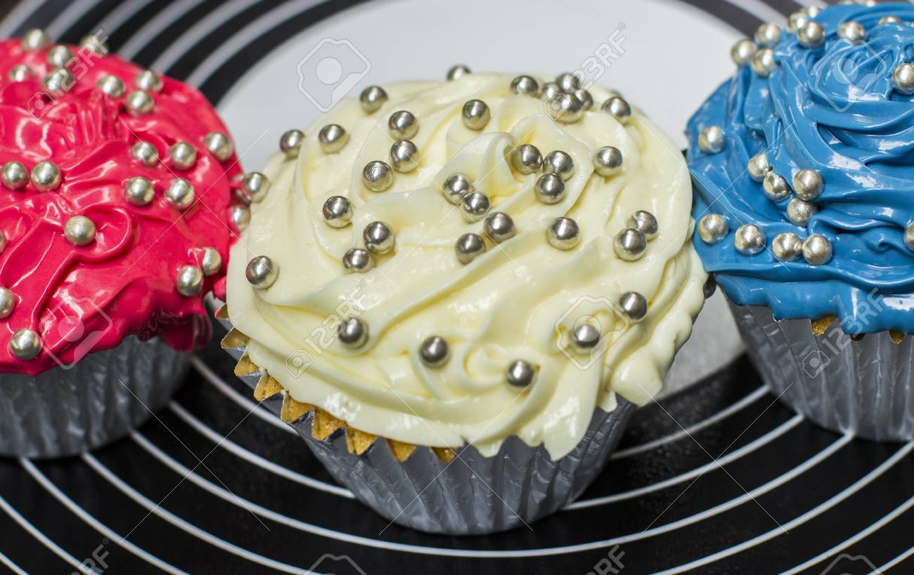 Red, White and Blue cupcakes Stock Photo - 14292890