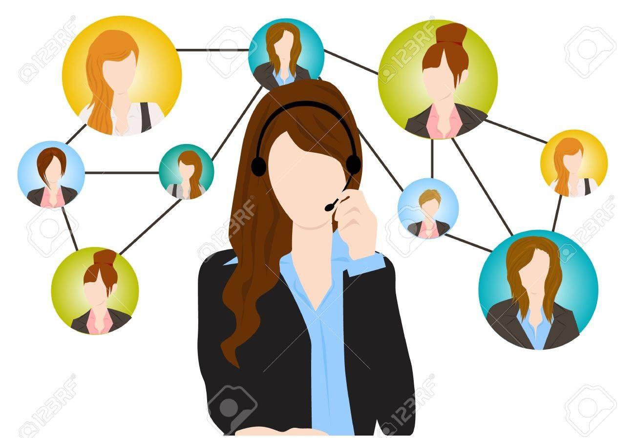 social communication Stock Vector - 15250680