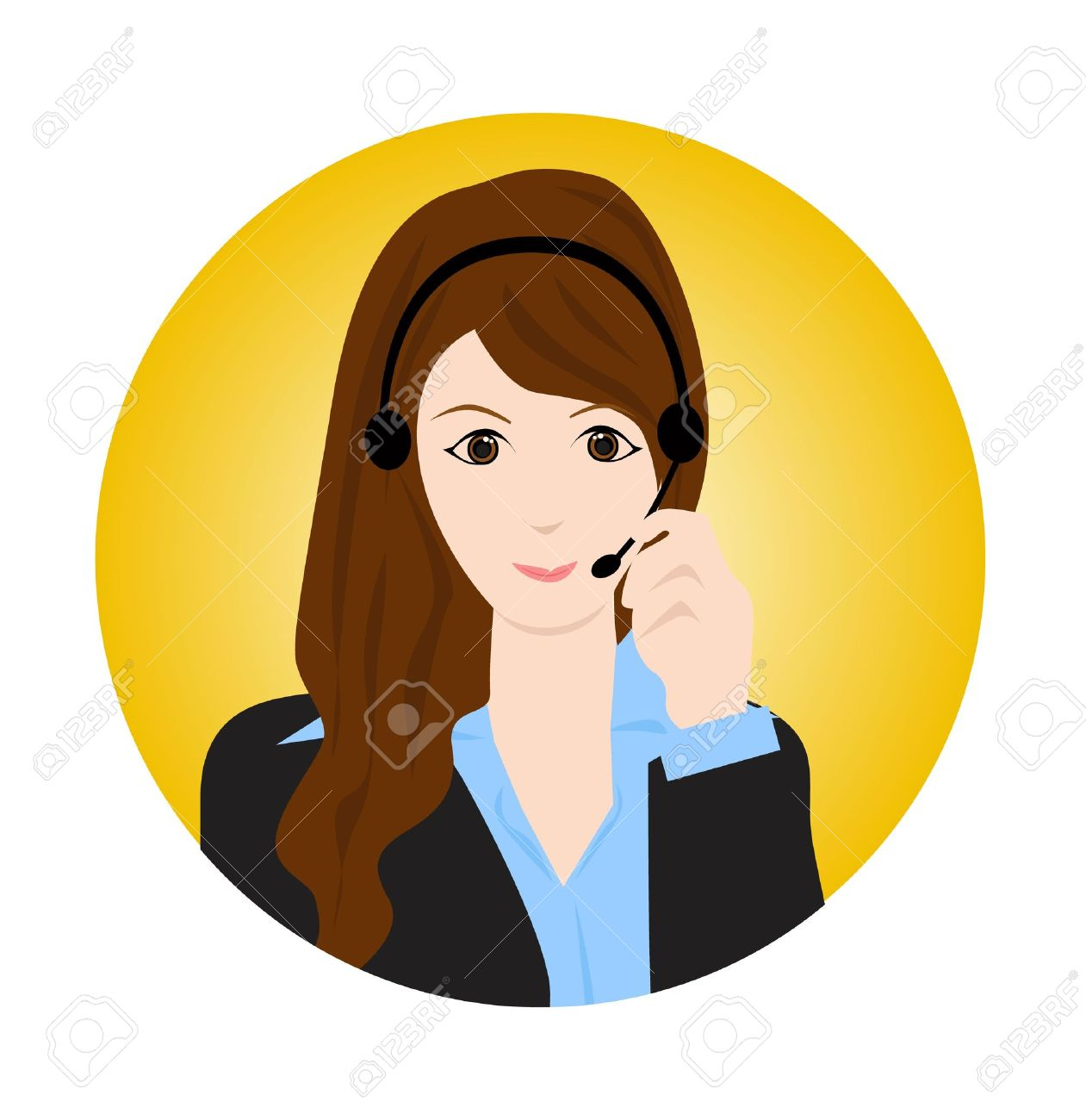 woman customer service royalty free cliparts vectors and stock rh 123rf com customer service clipart free customer service clipart images free