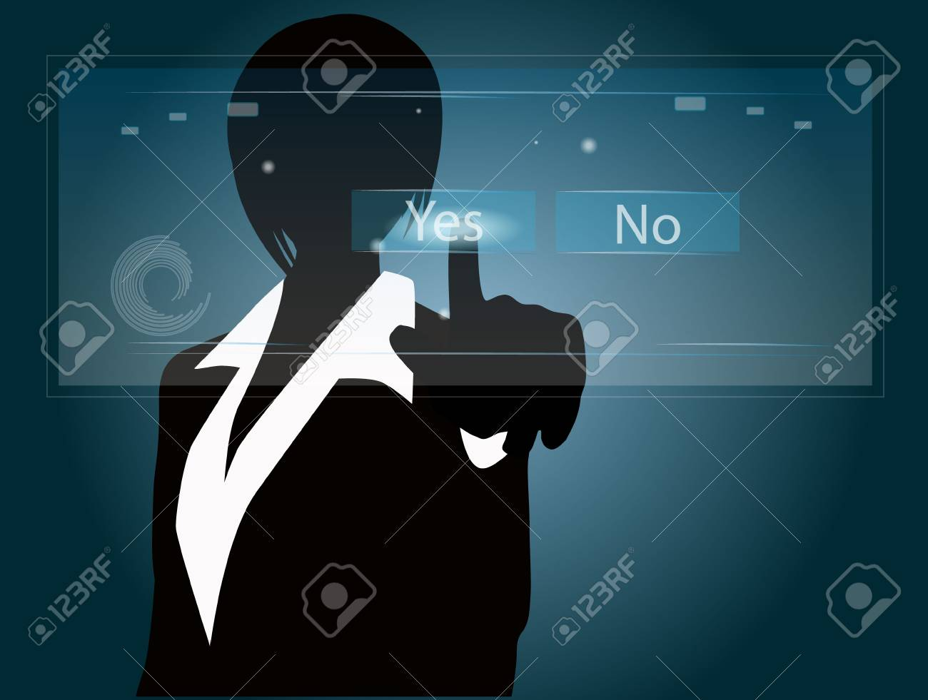 business woman approved concept Stock Vector - 15840365