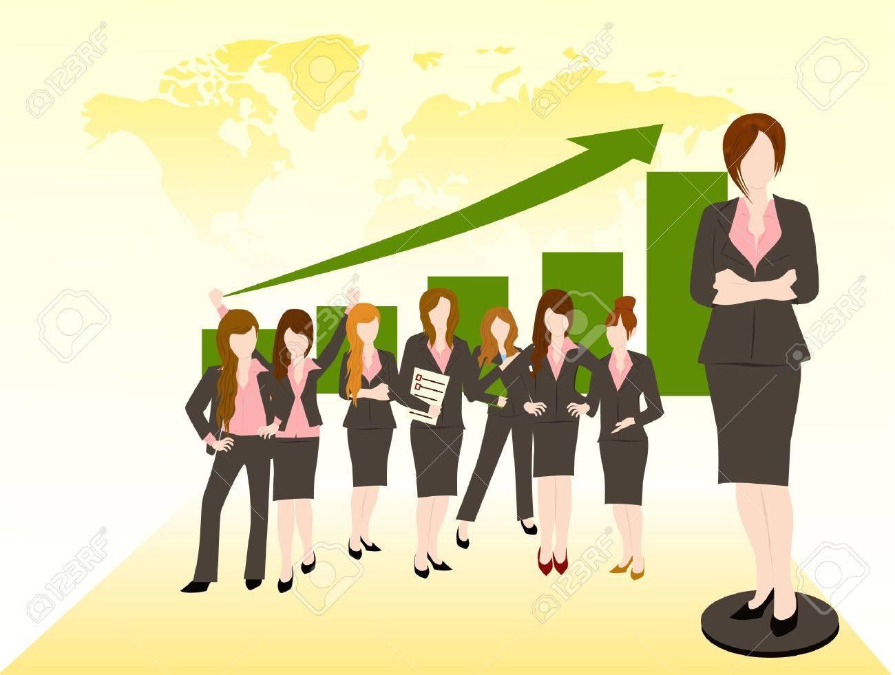 business woman team success concept Stock Vector - 16298167