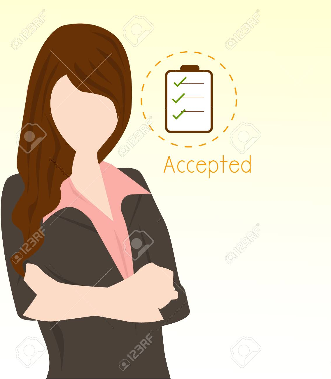 business woman checking Stock Vector - 16810320