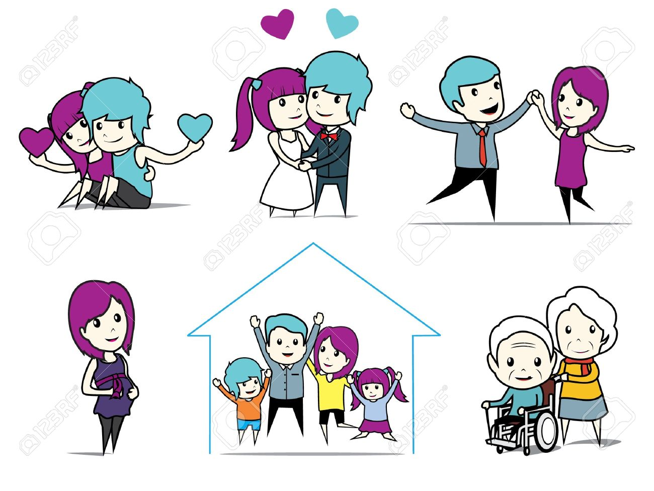 story of love Stock Vector - 17097372