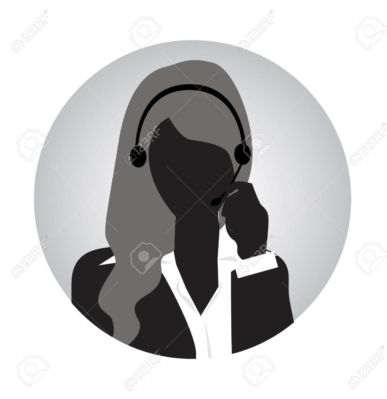 woman customer service silhouette Stock Vector - 17097374