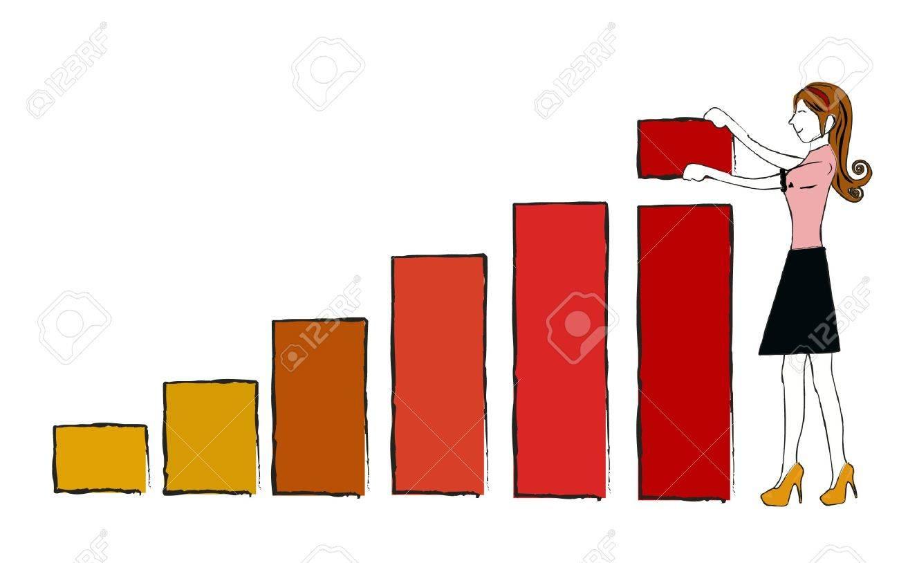 business woman chart vector Stock Vector - 18812071