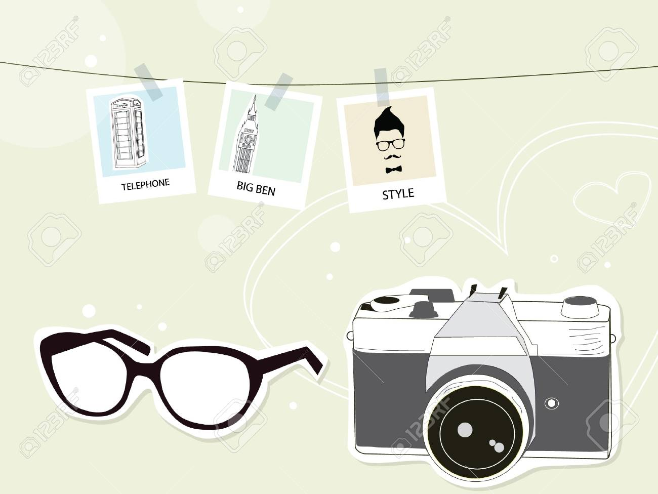 Camera Vintage Vector Free : Traveling with camera vintage royalty free cliparts vectors and