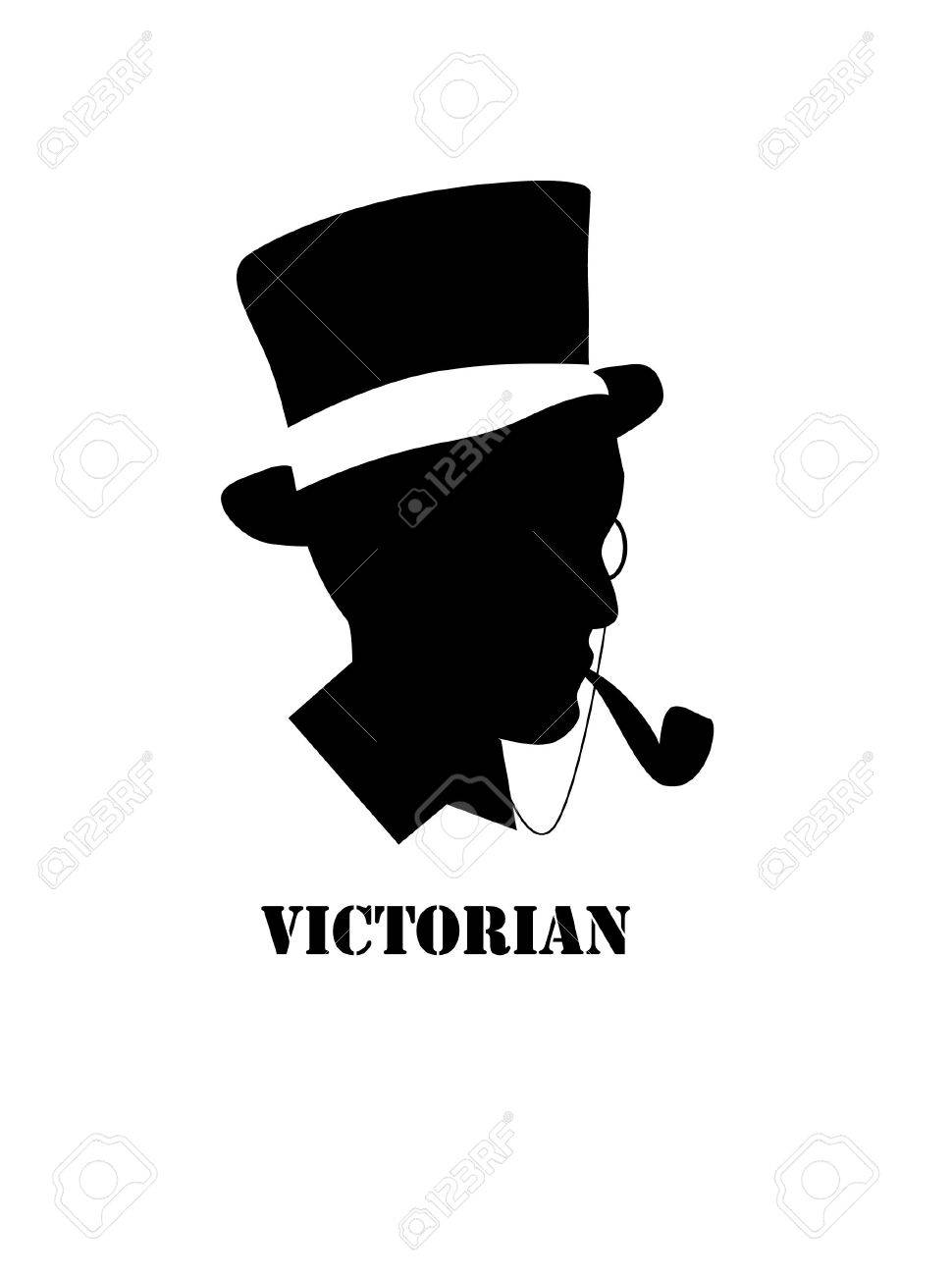 Victorian Silhouette People
