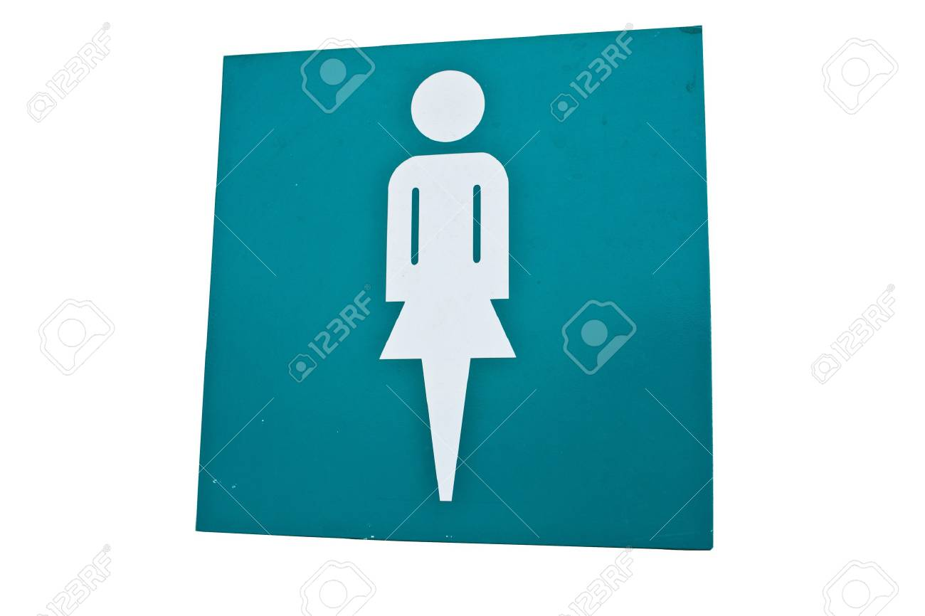 Women table separate toilet isolated on the ground white. Stock Photo - 9369259