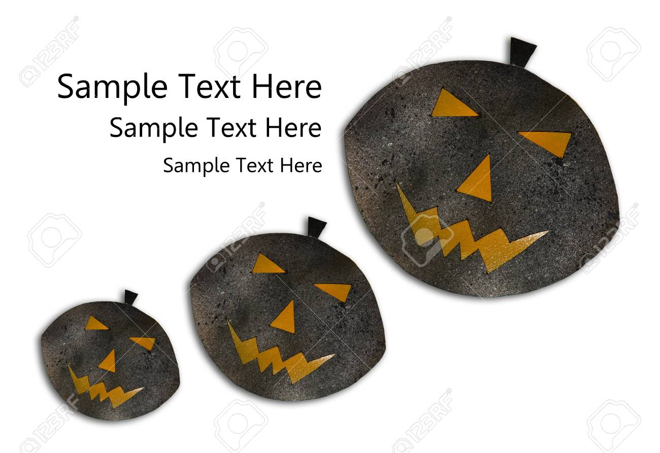 Four Halloween Pumpkins isolated on  white background. Stock Photo - 15780951