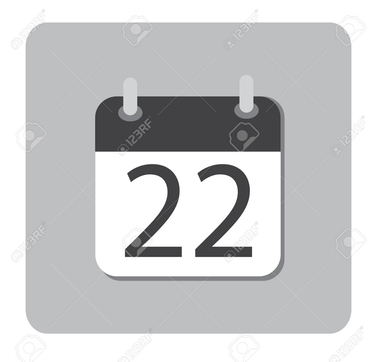 b373e576a051ed Calendar icon flat December 22. 22 December date icon. 22 Dec sign. Stock