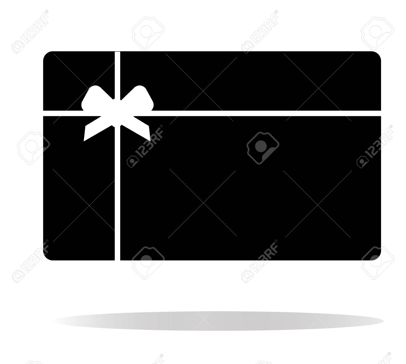 Gift Card Icon On White Background Gift Card Sign Flat Style