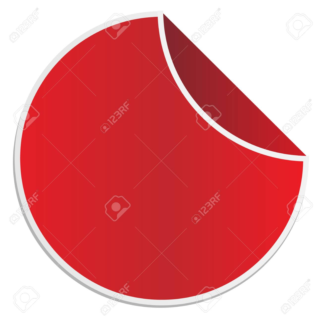 empty promotion lable on white background. red sticker. red vector sticker. - 110122746
