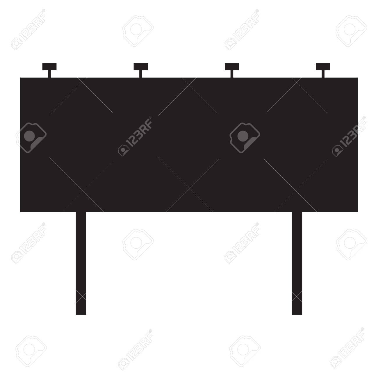 Blank billboard on white background  flat style  Advertising