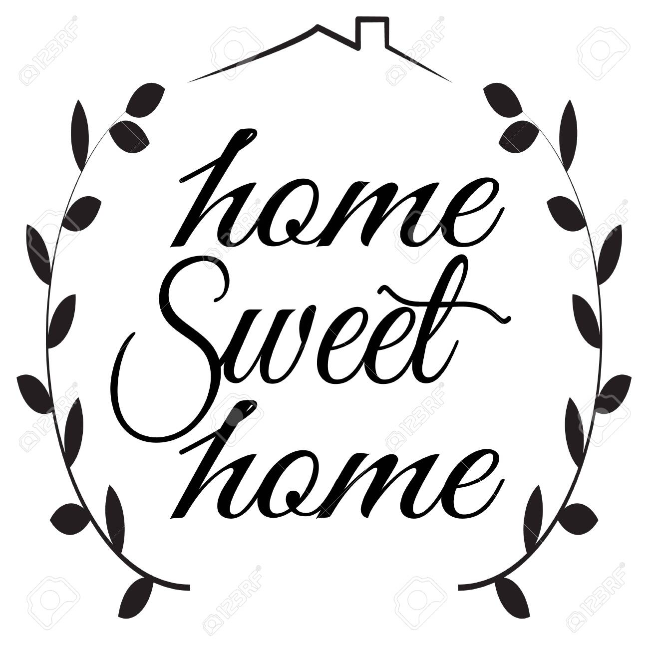 Home Sweet Home Sign On White Background Flat Style Home Decor Royalty Free Cliparts Vectors And Stock Illustration Image 124434539