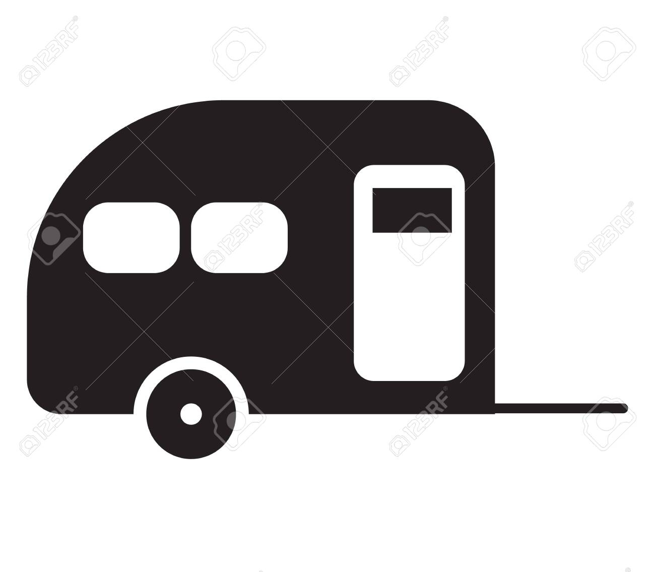 camping caravan icon on white background. flat style. camping car icon for your web site design, logo, app, UI. camping car symbol. camping caravan sign. - 132745830