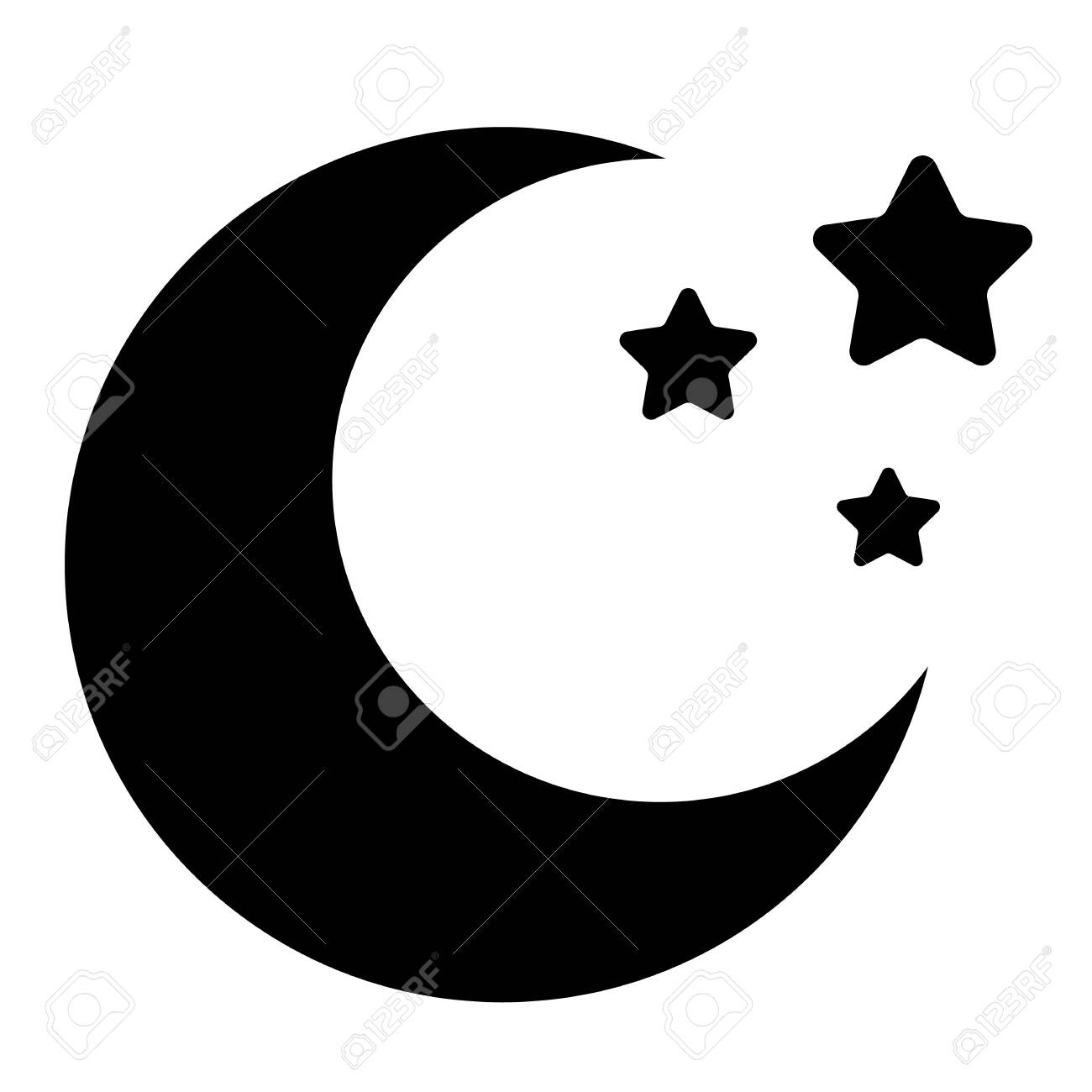 moon icon on white background flat style black crescent moon royalty free cliparts vectors and stock illustration image 148123870 moon icon on white background flat style black crescent moon