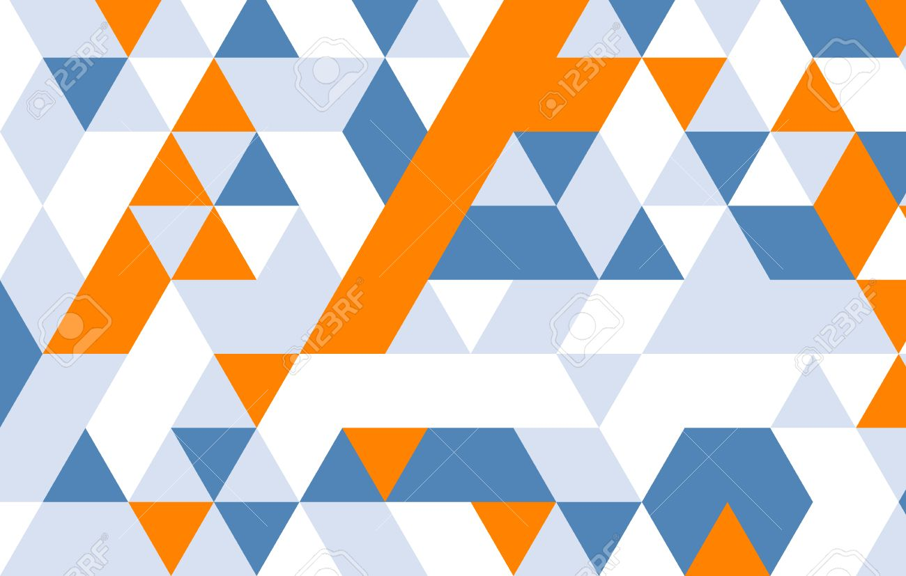 geometric pattern yellow blue gray triangle design pattern template