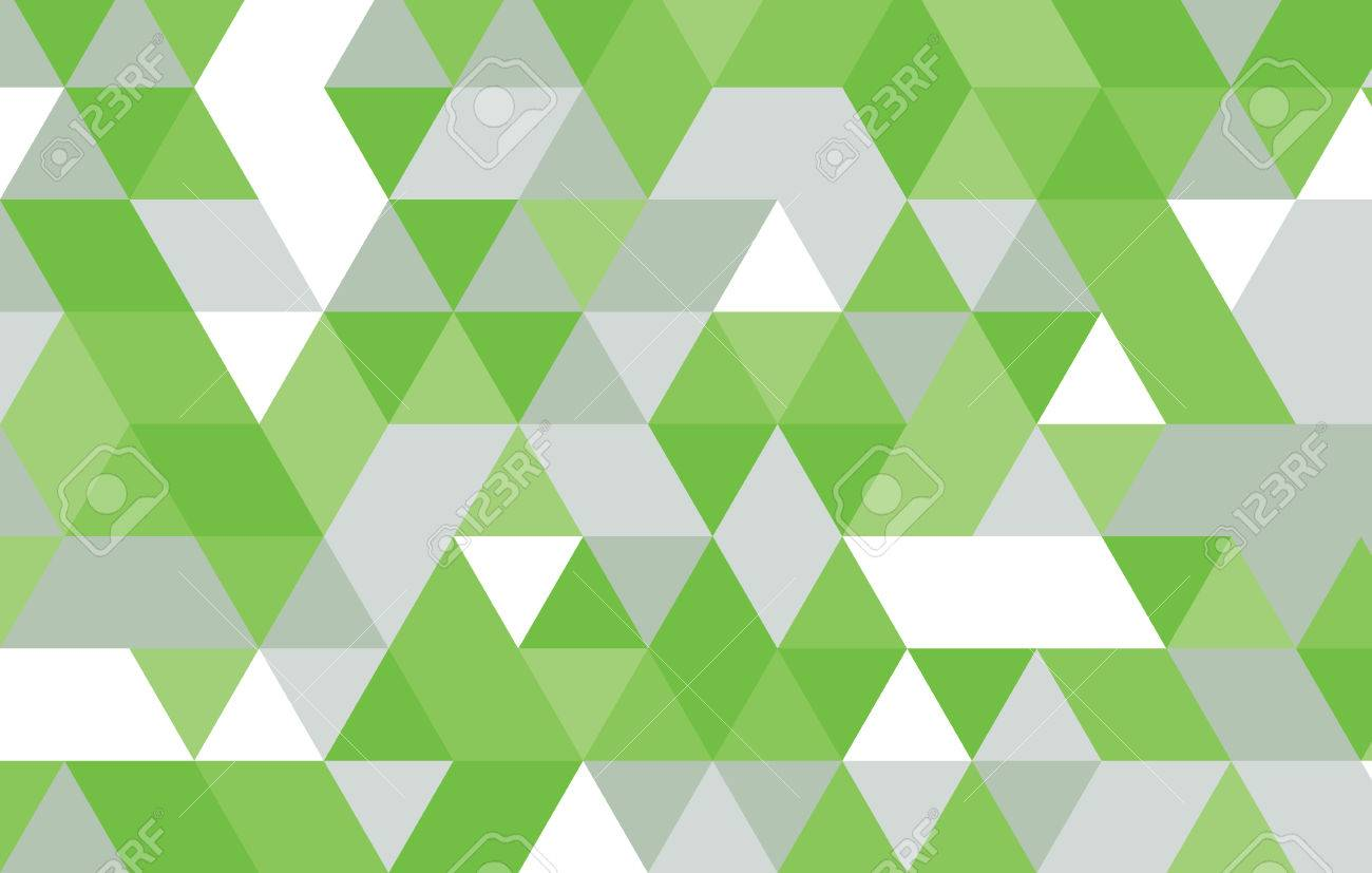 green abstract geometric background triangle pattern vector design