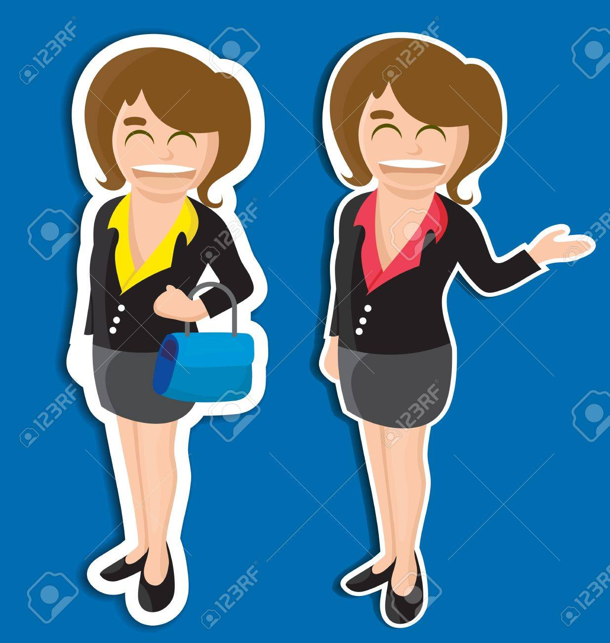 vector illustration of  business girl Stock Vector - 21316356
