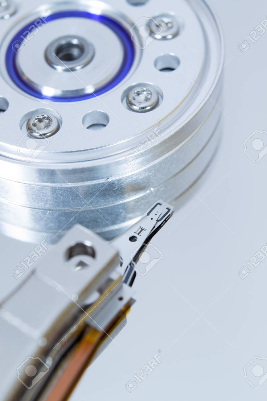 Close up of modern opened hard disk drive Stock Photo - 16465540