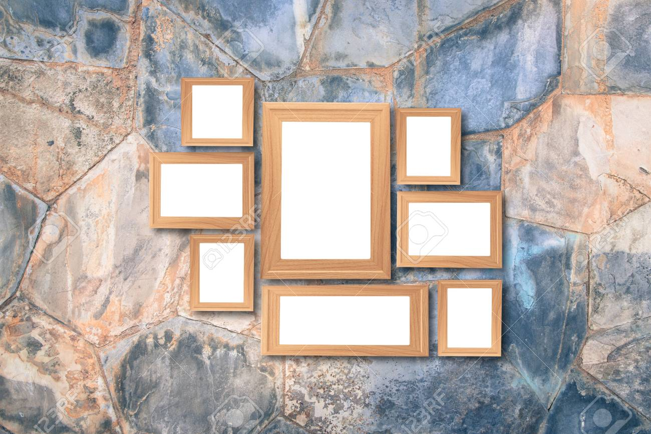 Collage Of Blank Brown Wooden Frames Interior Decor Mock Up Stock Photo Picture And Royalty Free Image Image 80769551