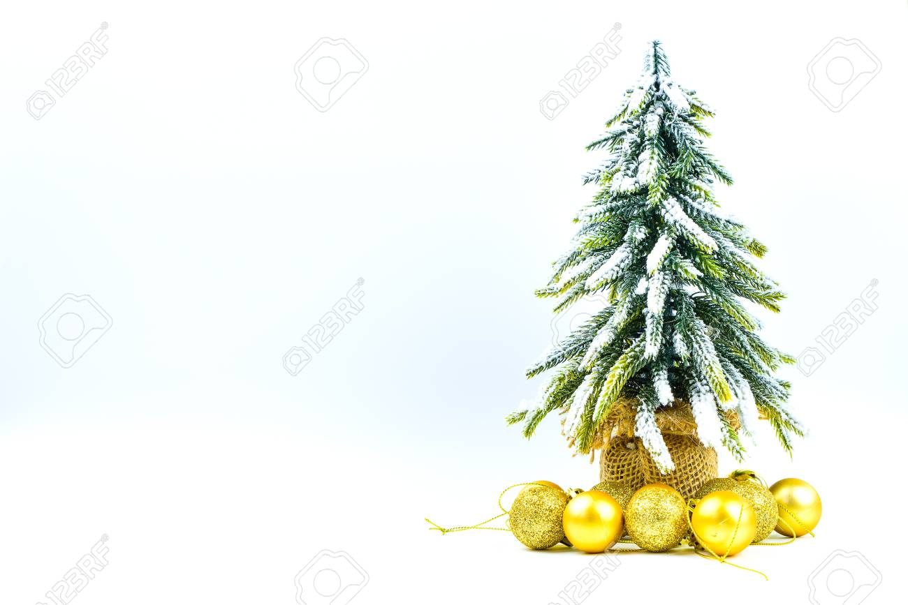 christmas or new year background with pine conesgift boxgolden ball and pine
