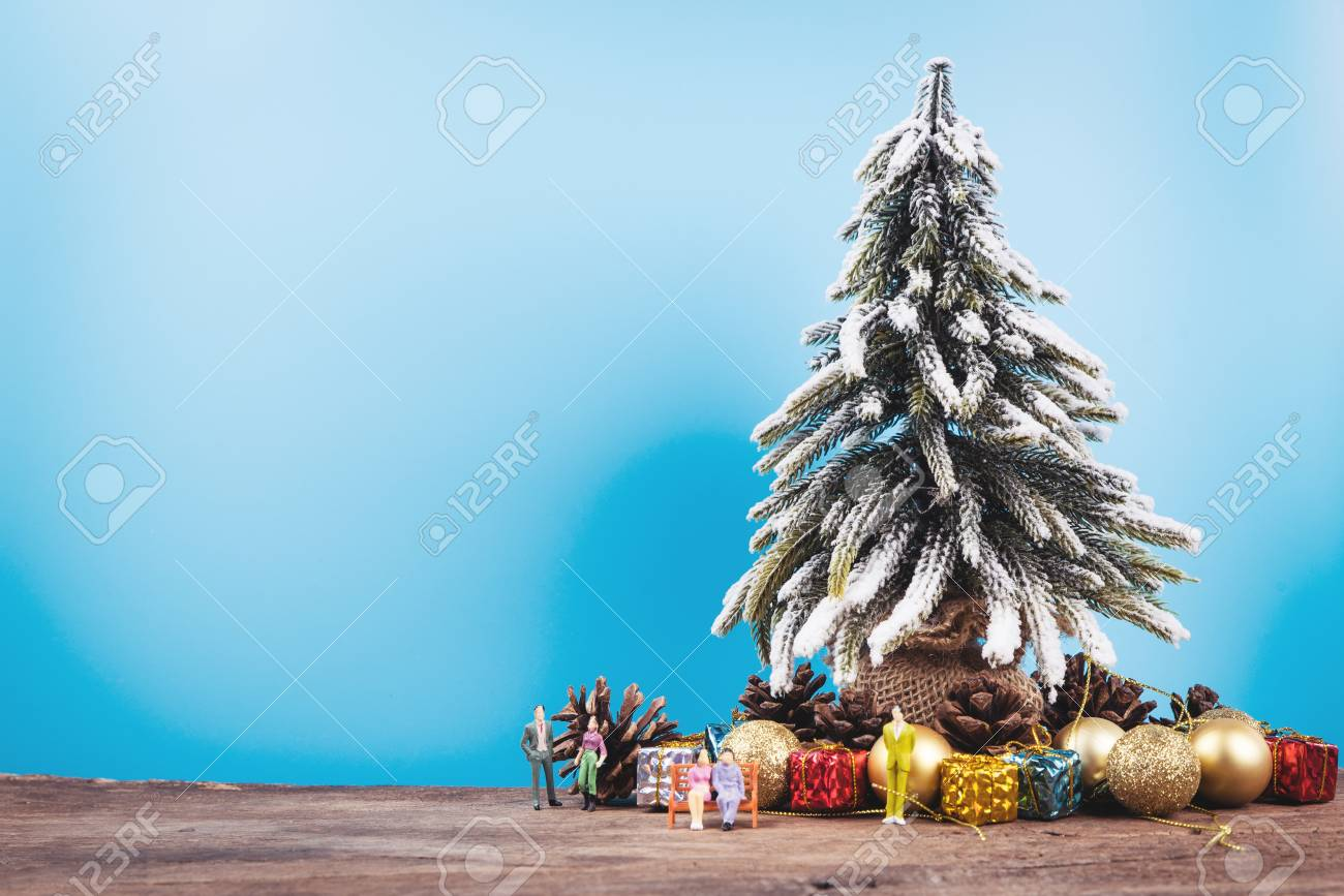 christmas or new year background with pine tree of xmas decorations and fir branches blank