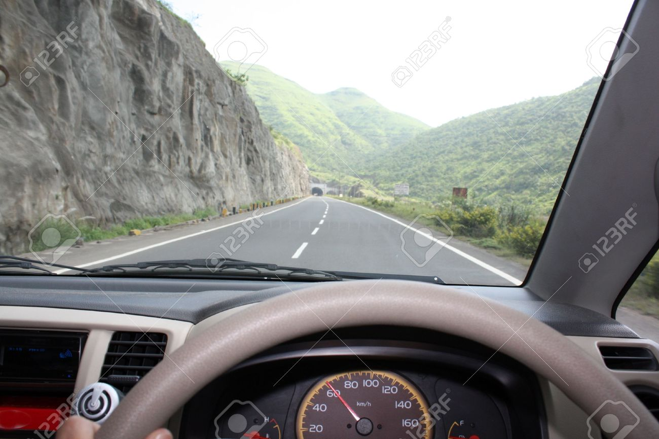 A View From The Driver S Seat Of A Car Driving At The Speed Stock Photo Picture And Royalty Free Image Image 5455724