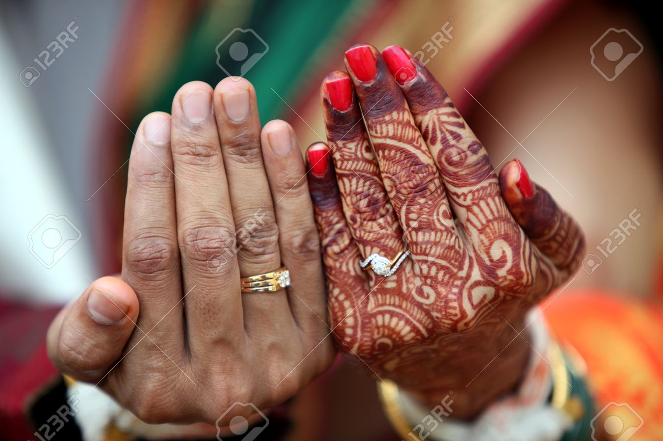 Indian Wedding Ring On Hand