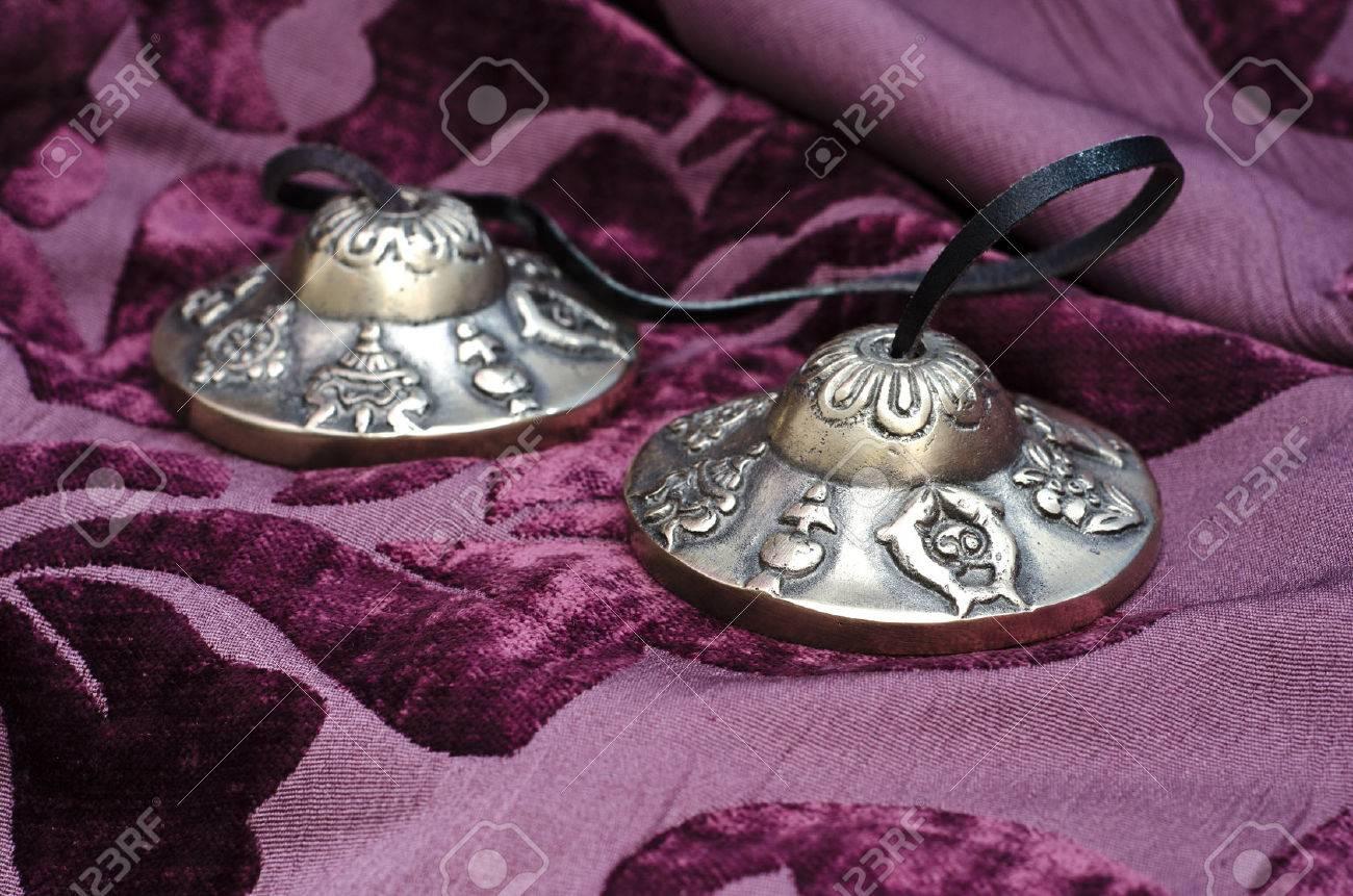 Close up of Tibetan Tingsha instrument Stock Photo - 27582243
