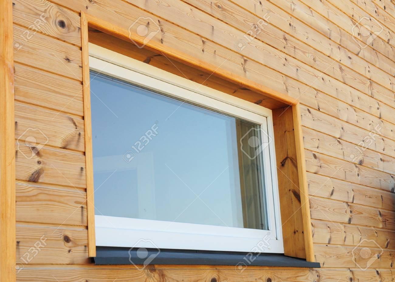 Schließen Sie Oben Auf Plastik-PVC-Fenster In Der Neuen Modernen ...
