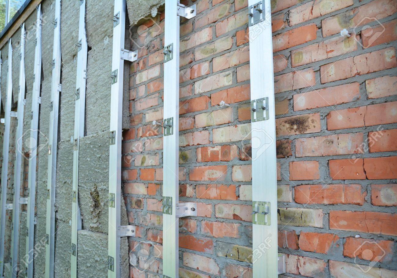 backsteinmauer reparatur und steinwolle oder mineralwolle