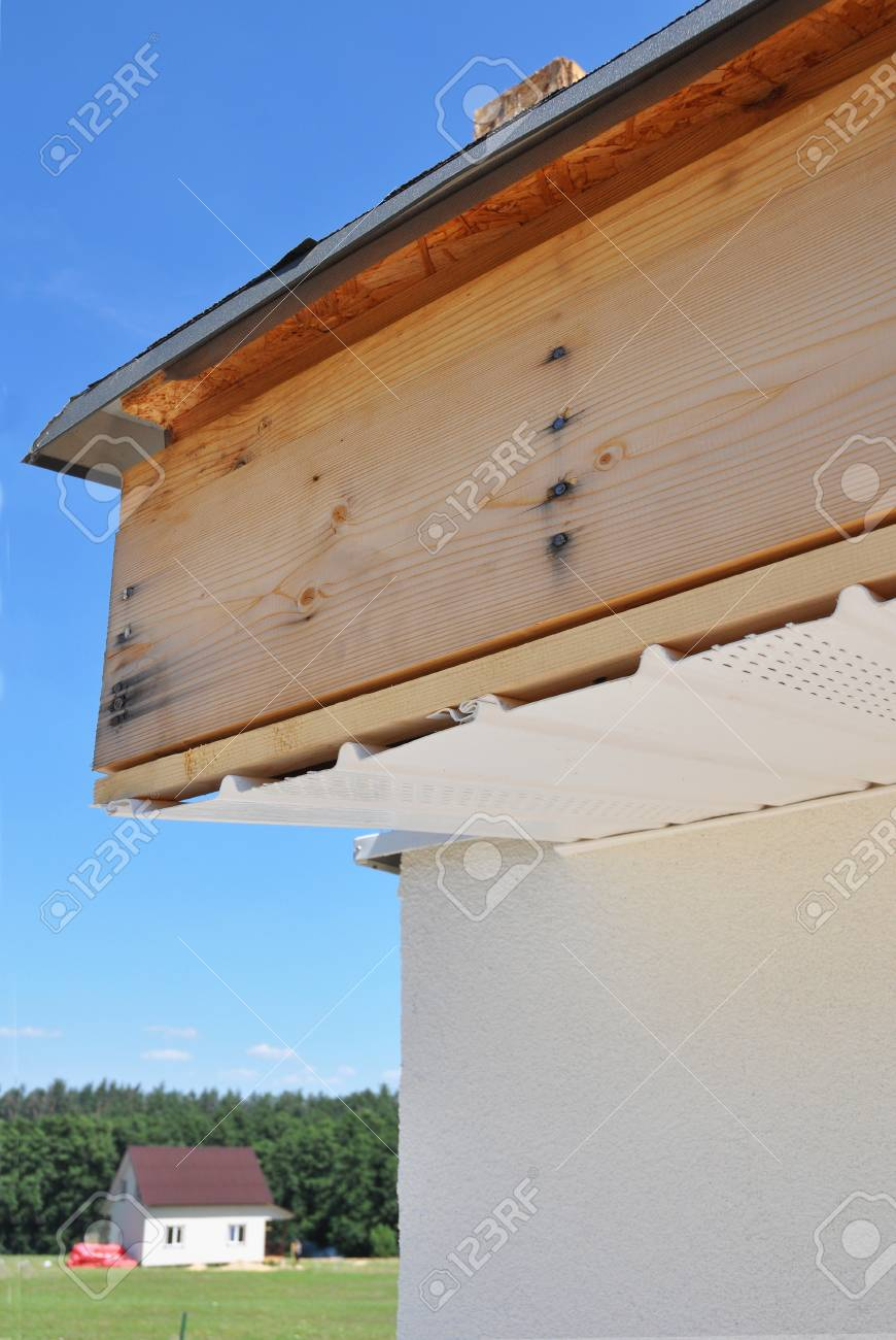 Soffit Board And Fascia Board Installation Repair Roofing Construction Stock Photo Picture And Royalty Free Image Image 86913453