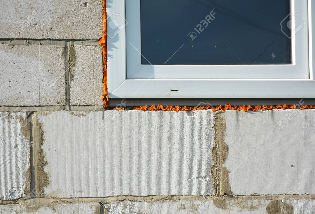 Ventanas Pvc Stock.How To Install Pvc Window With Insulation For House Energy Saving