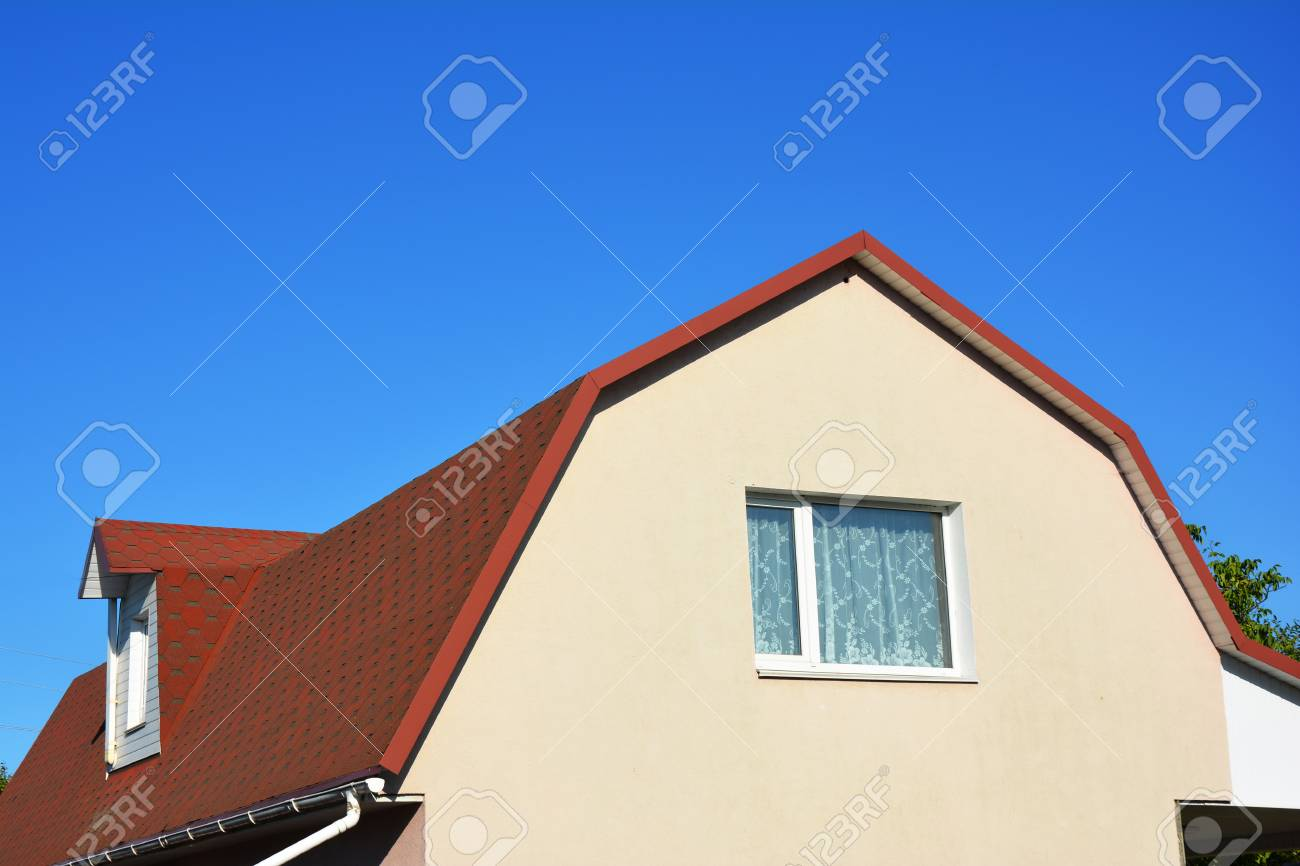 House Attic Dormer Window and Roofing Construction  Gable roof