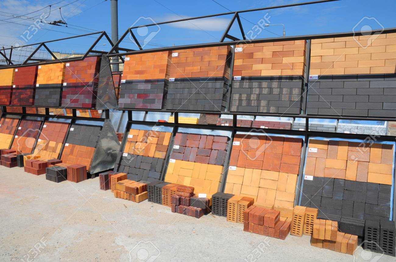 Bricks For Sale >> Kyiv Ukraine March 13 2018 Stacks Of Bricks For Sale