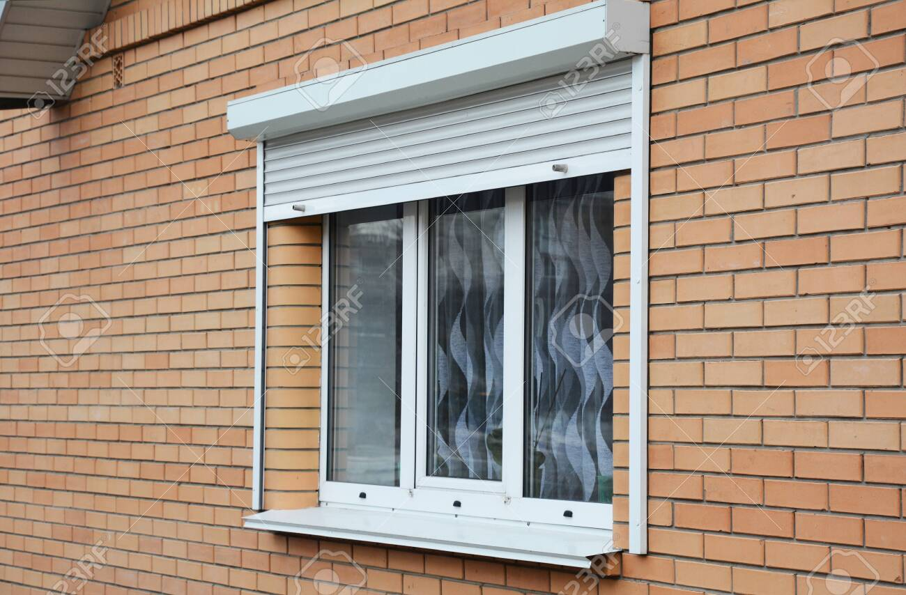 Rolling Shutters Brick House Windows Protection Brick House