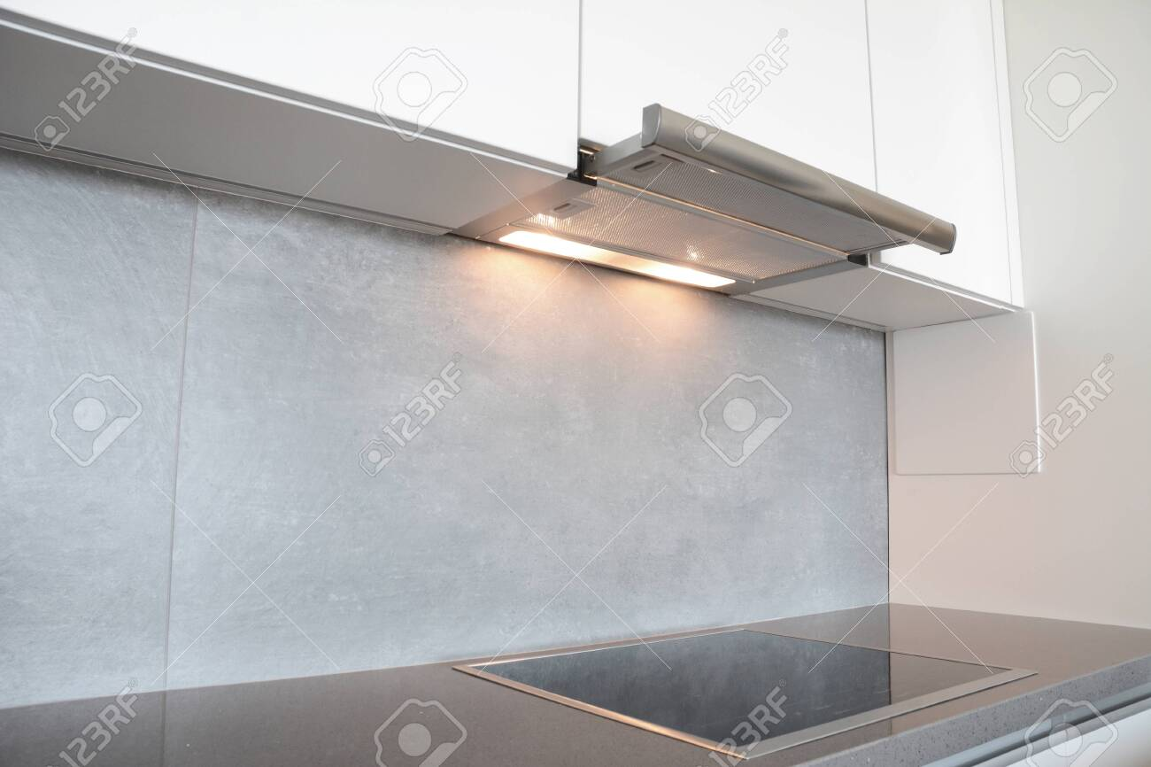 A Close Up On Under Cabinet Range Hood Exhaust Vent Hood With Stock Photo Picture And Royalty Free Image Image 152017220