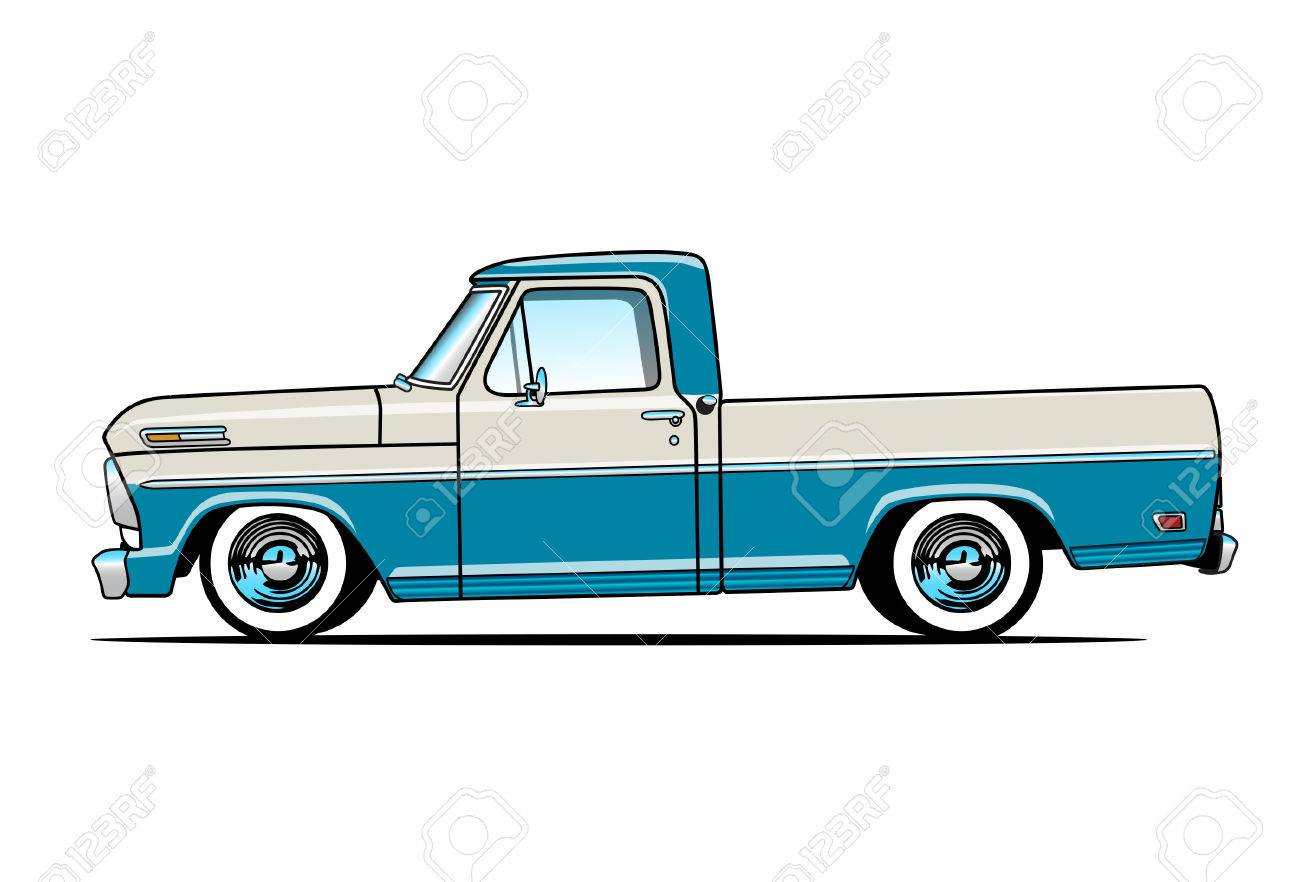 Old Pickup Truck Royalty Free Cliparts, Vectors, And Stock ...