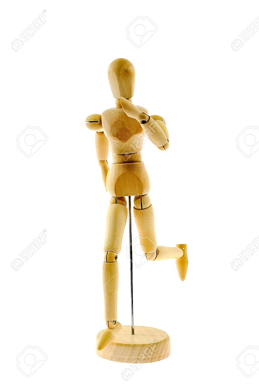 Wooden figure   isolated on white background Stock Photo - 15606338