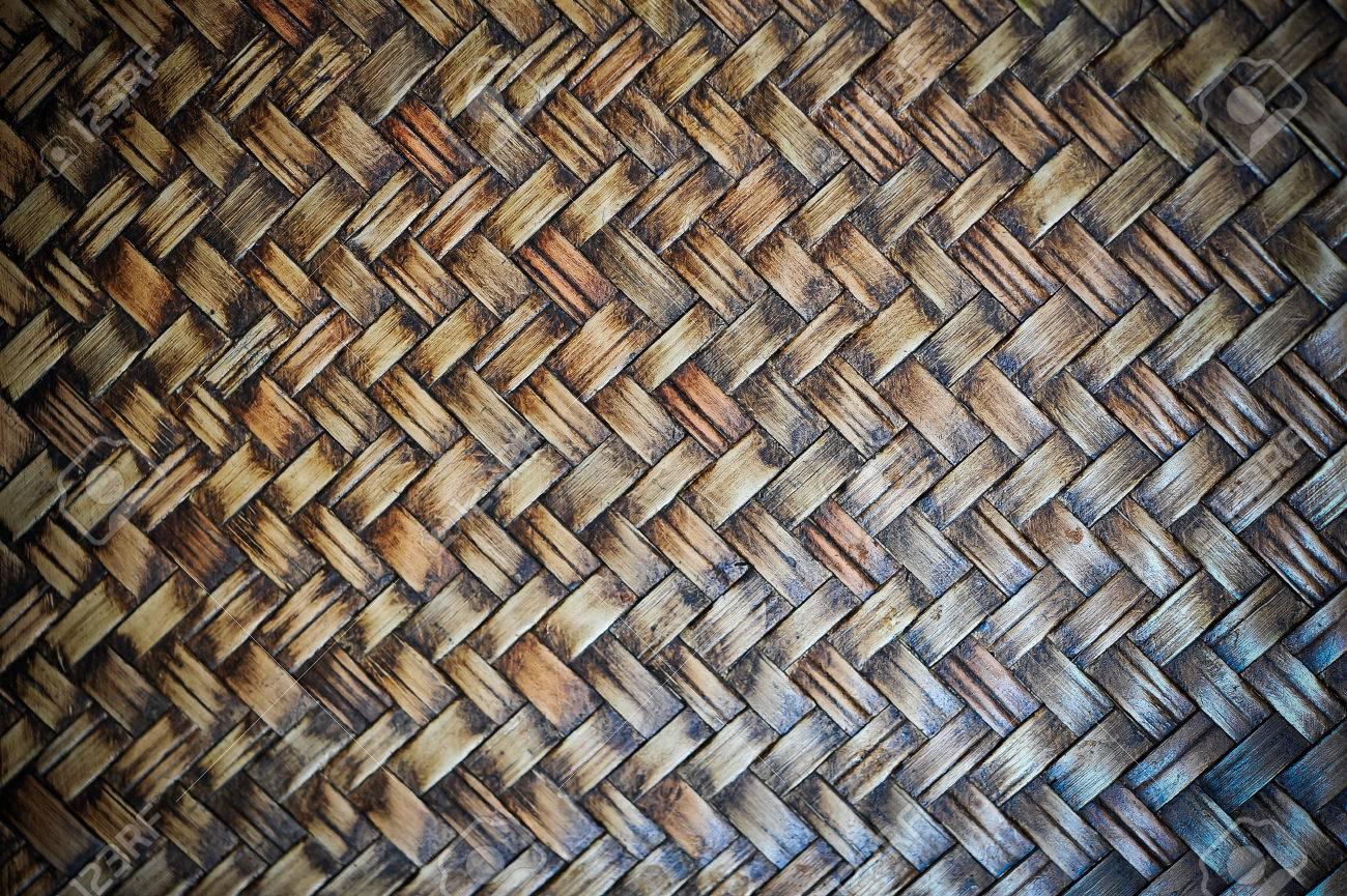 Tejido Canasta De Mimbre Marrón Patrón De Textura De Fondo Fotos ...