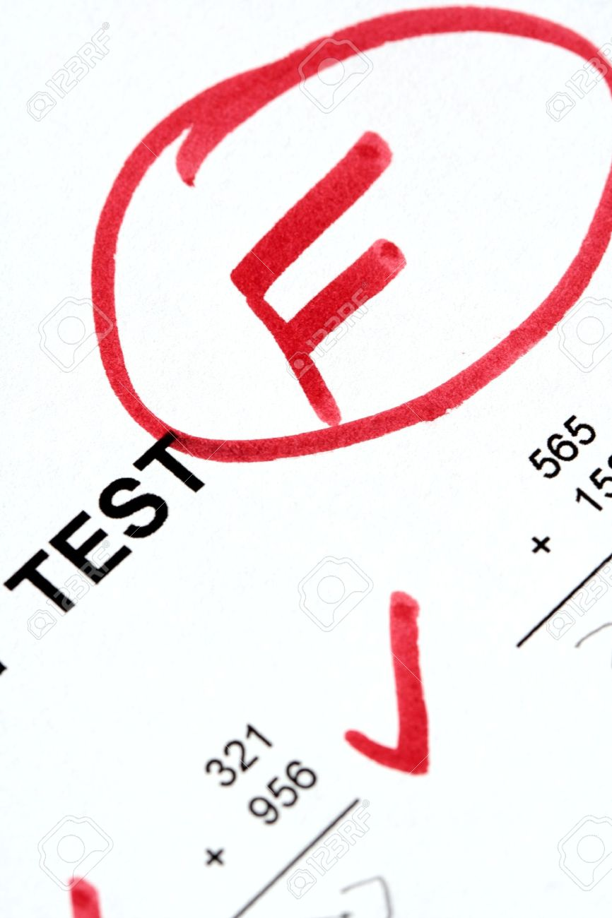 Failed Math Test Stock Photo, Picture And Royalty Free Image. Image ...