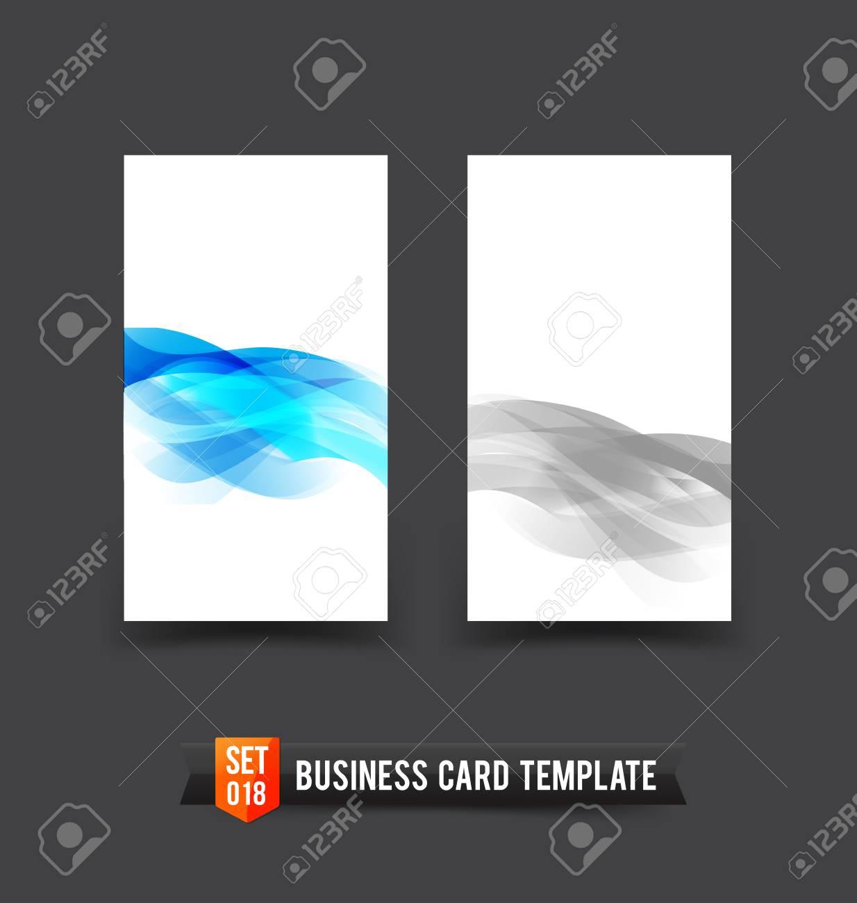 Modle De Carte Visite Bleu Onde Lumineuse Lment Courbe