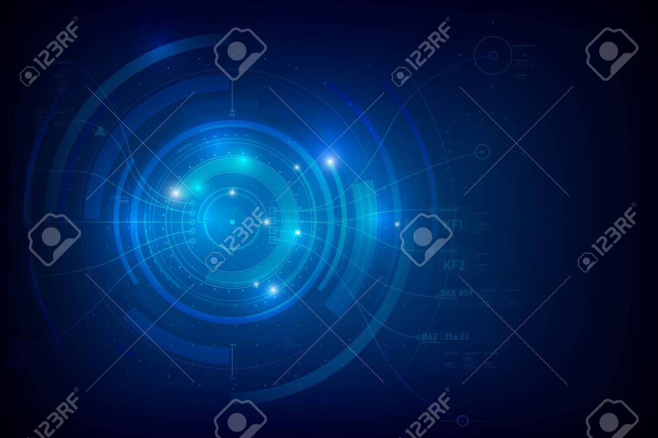 Abstract background for cyber technology futuristic concept on the dark blue background vector illustration - 138249685