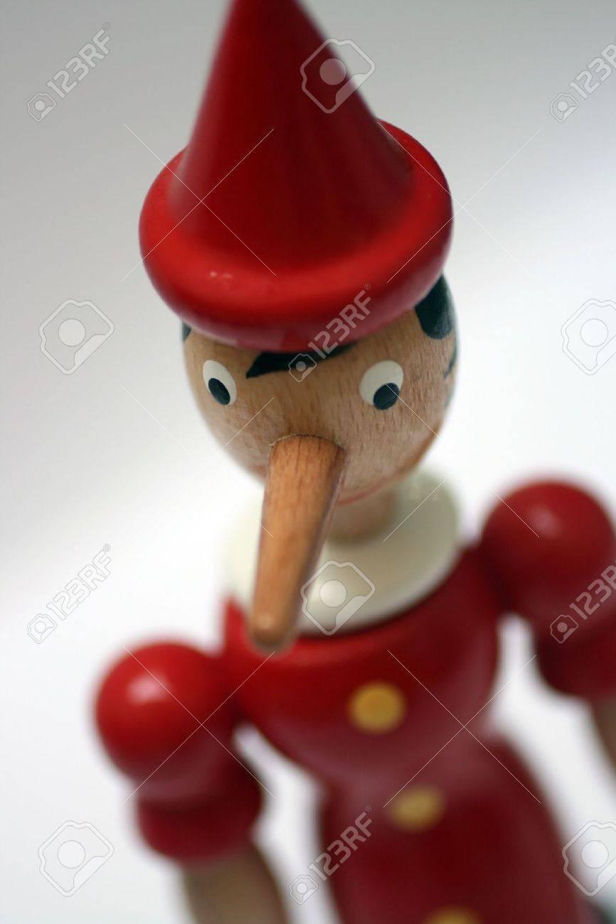 wooden statue of pinnochio representing a gentle liar Stock Photo - 3521141