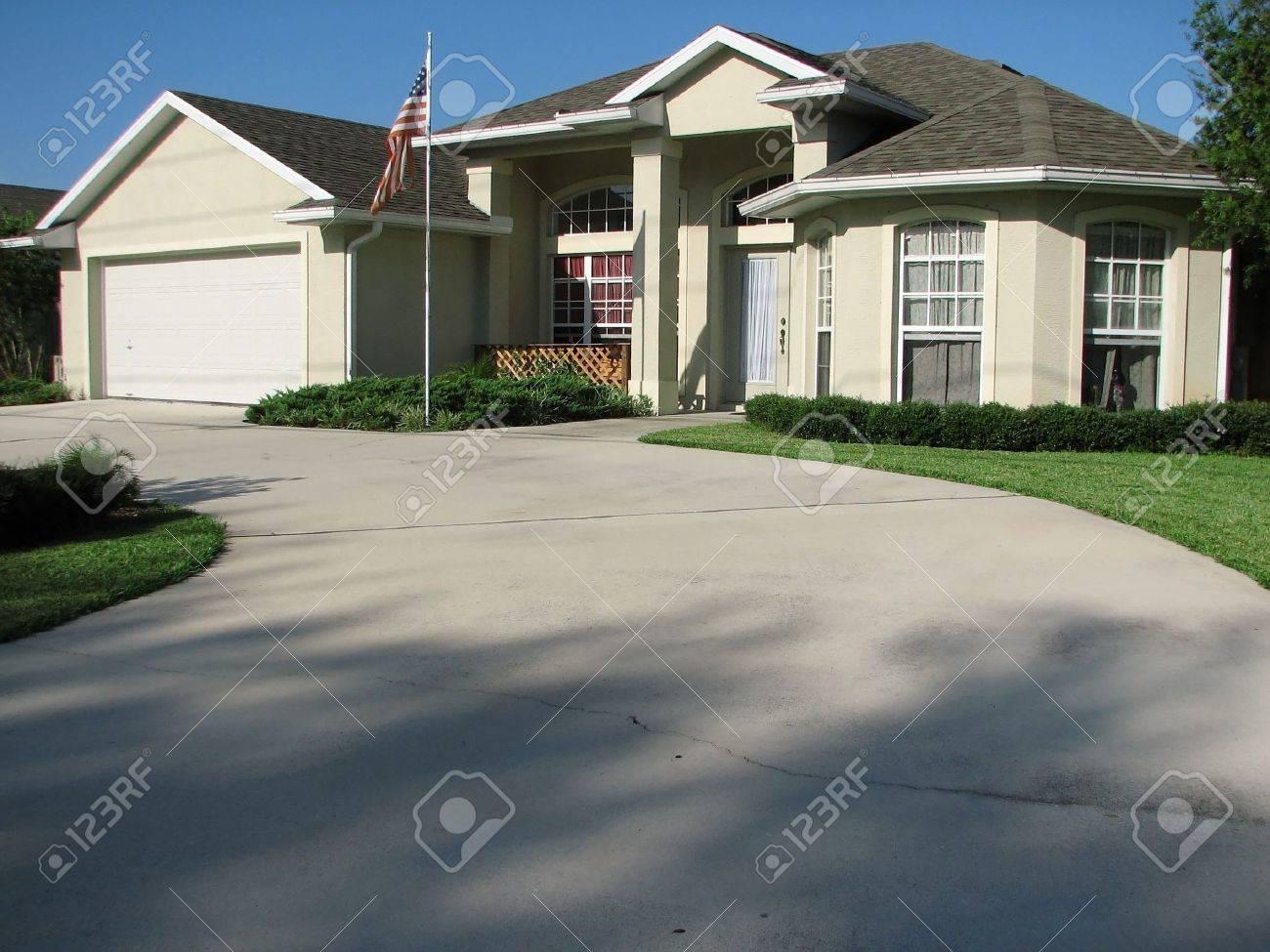 Plan Dune Belle Maison De Deltona En Floride Banque Dimages