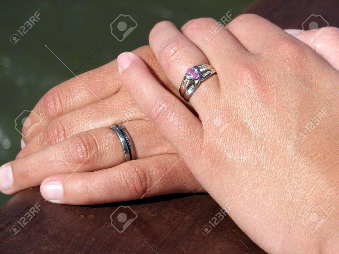 showing wedding rings