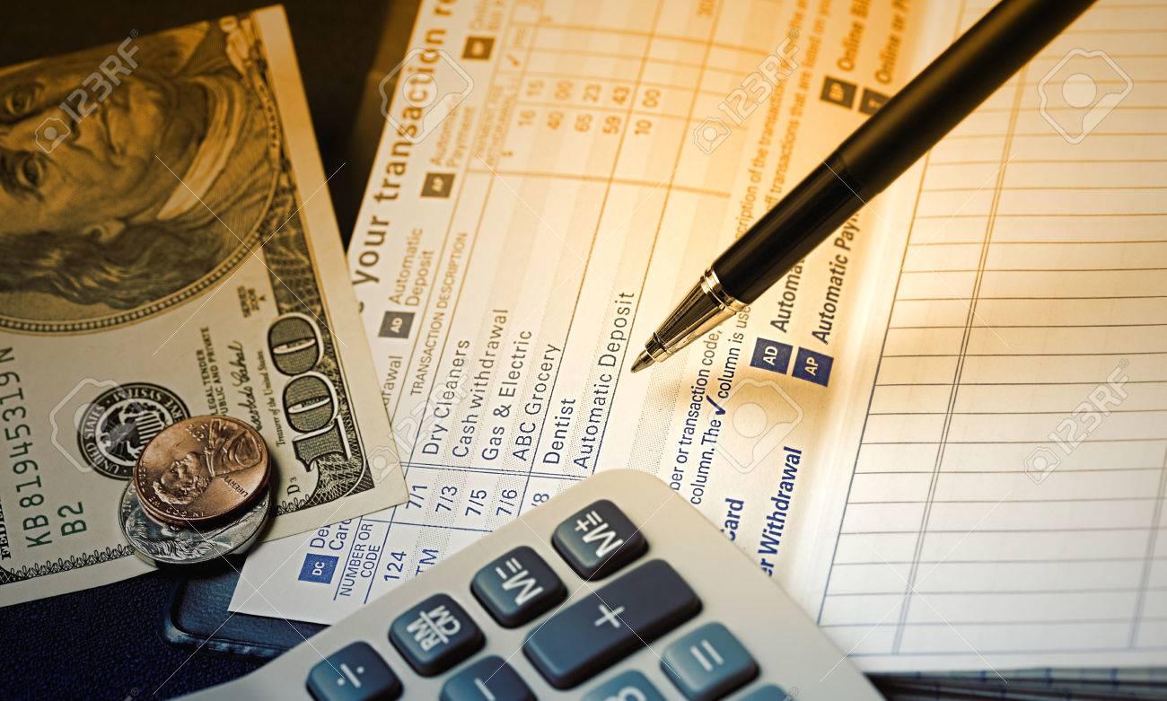 transaction register for checking account