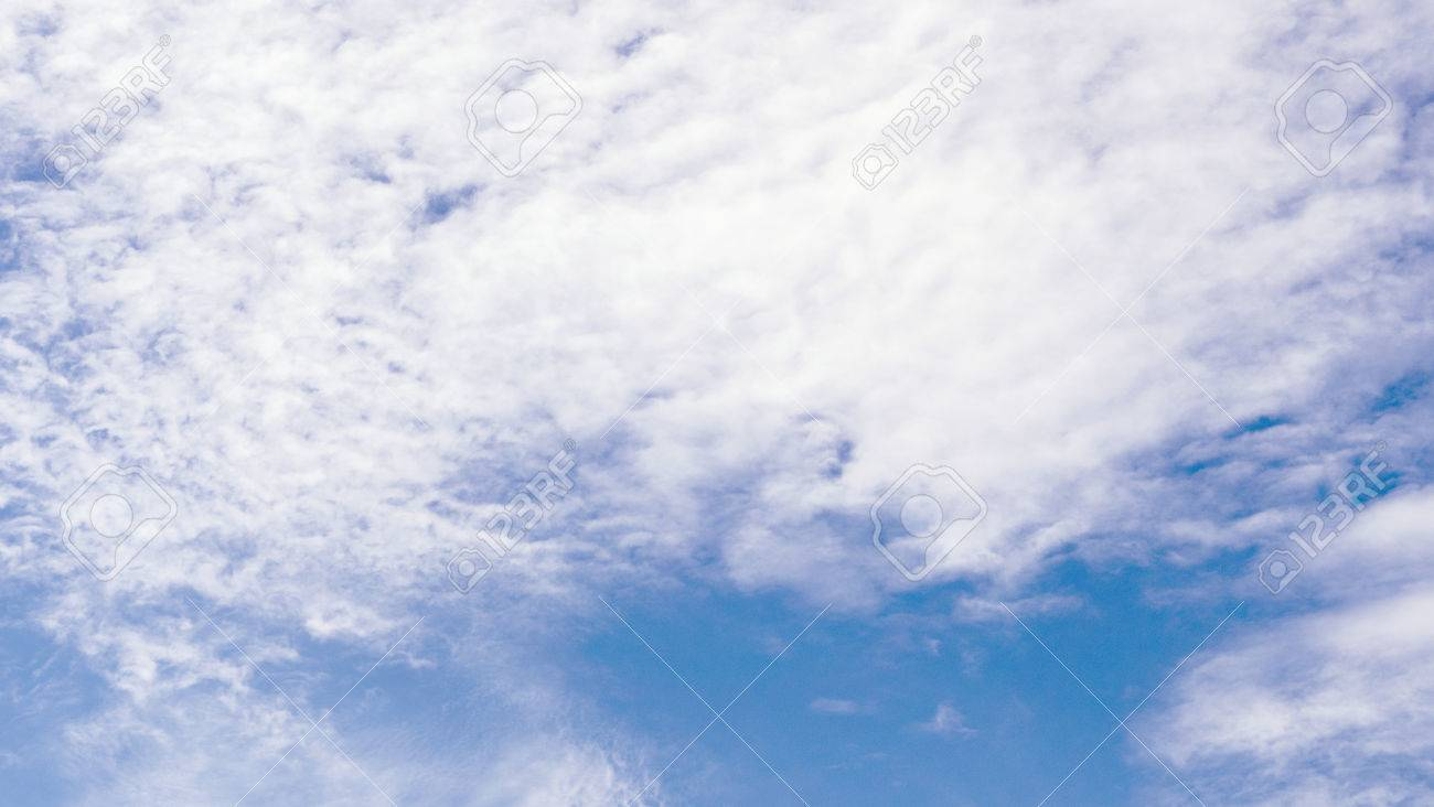 Blue Sky With Clouds For Business Background In 169 Ratio Having